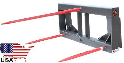 "49"" HD Hay Bale Spear Attachment Skid Steer Bobcat Kubota New Holland United"