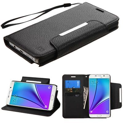 Luxury Magnetic Flip Stand Leather Wallet Cover Case For Samsung Galaxy Note 5