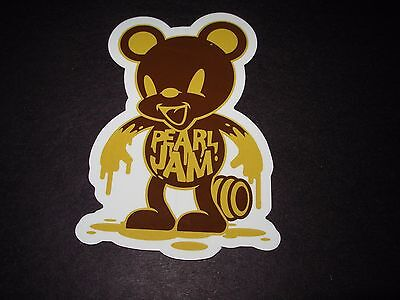 "PEARL JAM Die Cut Sticker HONEY BEAR New 3 X 4.5"" tour concert merch gig cd lp"