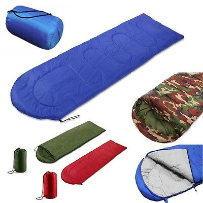 3Season Waterproof Single Sleeping Bag Suit Case Camping Hiking Outdoor Envelope