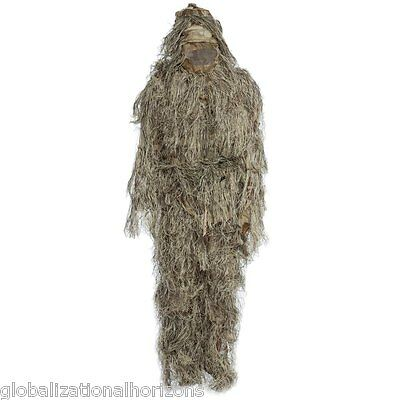 3D Outdoor Hunting Camo Sniper Ghillie Suit Tactical Archery Airsoft Clothing
