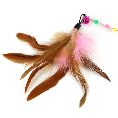 "DIGIFLEX Cat Kitten Pet Play Teasing 36"" Bouncy Rod with Bell and Feathers"