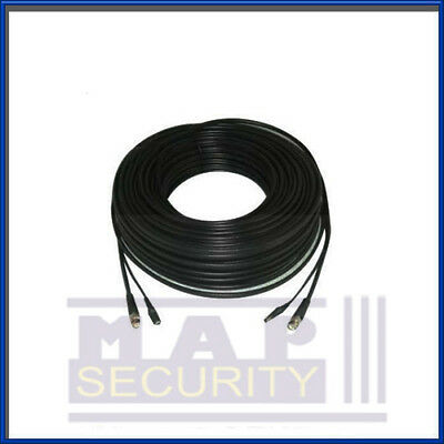 4X 2-Core 50M Pro Rg59 Video / Power Cctv Cable With Attached Fittings