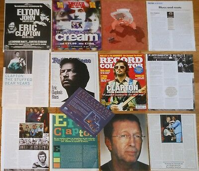 ERIC CLAPTON clippings 1980s/00s Cream magazine articles cuttings photos ad