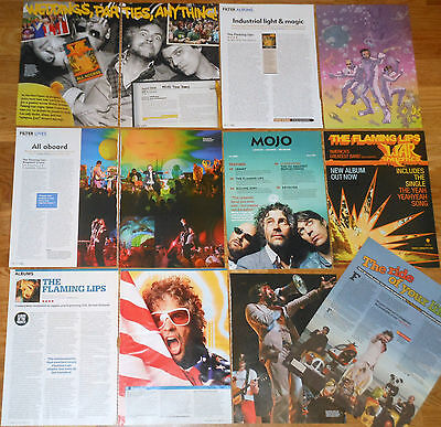 THE FLAMING LIPS UK clippings magazine articles photos Rock