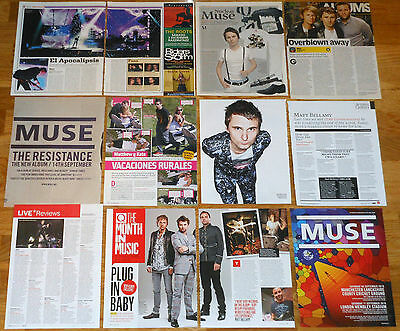 MUSE Matthew Bellamy clippings magazine articles photos rock