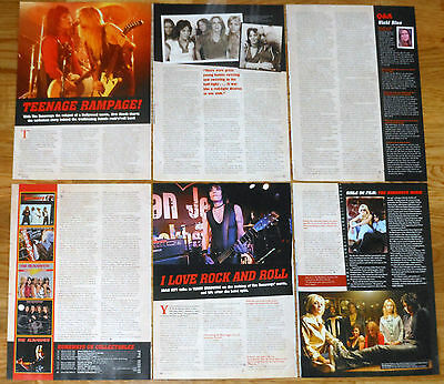 THE RUNAWAYS 9 page 2010 article clippings magazine photos girls rock
