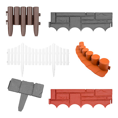 Garden Border Lawn Edging Flexible Plastic Flower Bed Hammer In Path Edge Fence