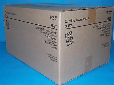 Corning 3527 24 Well Cell Curture Cluster Tissue Culture Treated Sterile Case Of