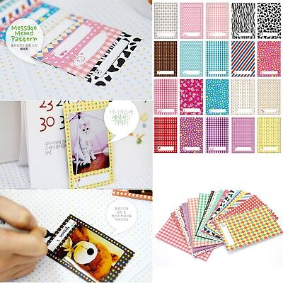Bulk 20pcs Polaroid Films Photo Stickers For FujiFilm Instax Instant 8 7S 25 50S