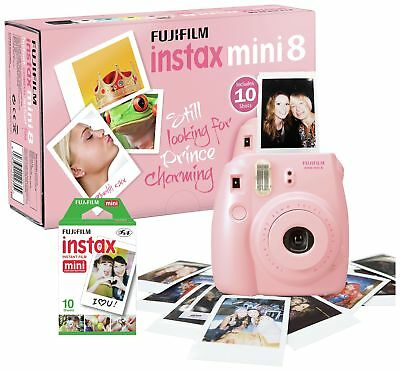 Fujifilm Instax Mini 8 Instant Camera with 10 Shots - Pink. From Argos on ebay