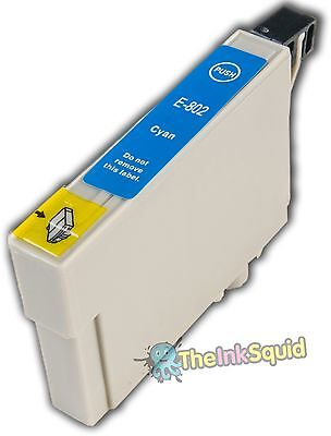 Cyan/Blue T0802 non-oem Hummingbird Ink Cartridge fits Epson Stylus Photo PX650