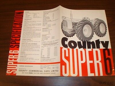Ford County Super 6 Sales Brochure Manual Catalog Cf2118