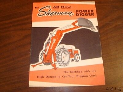 [3] Sherman Fordson Digger Parts & Sales Brochure Manual Catalog Cf2115