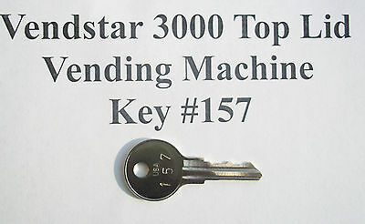 VENDSTAR 3000 Candy Machine Get Both Top Lid Keys 157 & 159 with Stamped Numbers