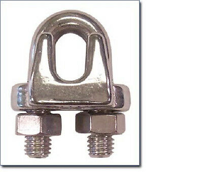 """2ea 1/8"""" Wire Rope Clip Stainless Steel 260SS"""
