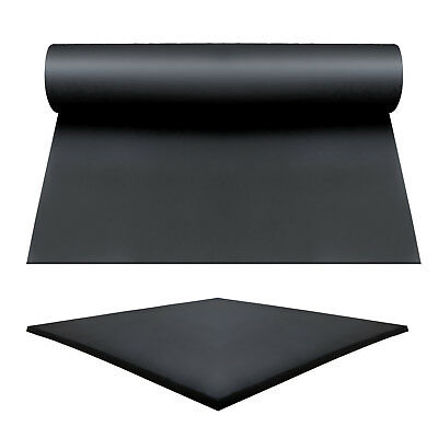 Rubber Sheet Sheeting Black Garage Rubber Flooring Rolls 1.4M WIDE X 1.5 MMTHICK