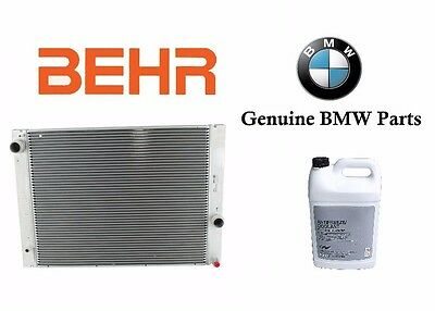 For BMW 745,760,645,545 NEW Behr OEM Radiator & For BMW Coolant #17 11 7 585 440
