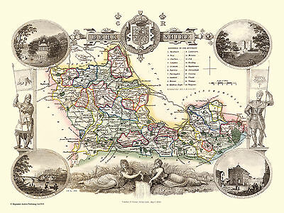 County Map Of Berkshire 1836 By Thomas Moule