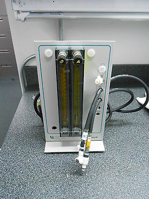 Applikon Flow Console W/ 2 Centered Pmr1 Aalborg Flow Meters & 2 Burkert Valves