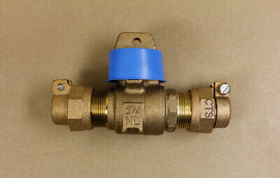 """Ford B44-333M-NL Ball Valve Curb Stop 3/4"""" CTS Pack Joint No Lead Minneapolis"""