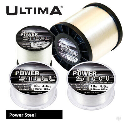 Ultima Power Steel Fluorocarbon Coated Mainline 4oz Spools - Sea Fishing Line