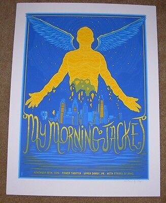 MY MORNING JACKET concert gig poster print UPPER DARBY 11-19-15 2015 mazza