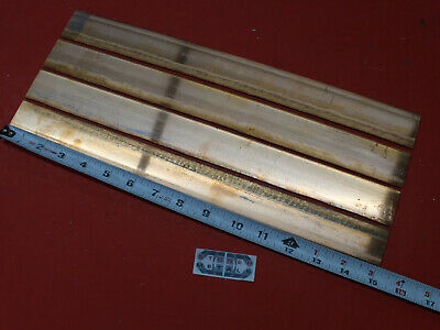 "2 Pieces .094""x 1-5/16""x 15.1"" C110 COPPER BAR Solid Flat Bar Mill Sheet Stock"
