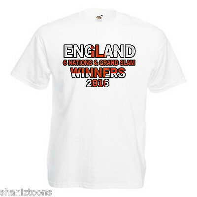 England 6 Nations Grand Slam Winners 2016 Children's Kids T Shirt