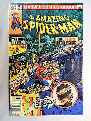 THE AMAZING SPIDER-MAN #216 Marvel Comic Book (Fine) - Madame Web