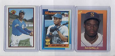 3 Ken Griffey Jr Rookie Rc Card Bowmantoppsclassics Lot