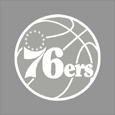Philadelphia 76ers #4 NBA Team Logo 1Color Vinyl Decal Sticker Car Window Wall