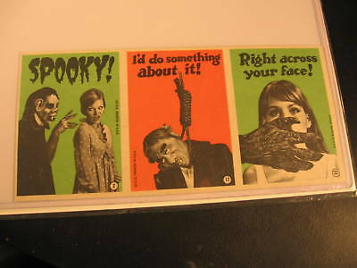 1965 Topps Monster Greeting 3-Card Uncut Strip #2-17-23