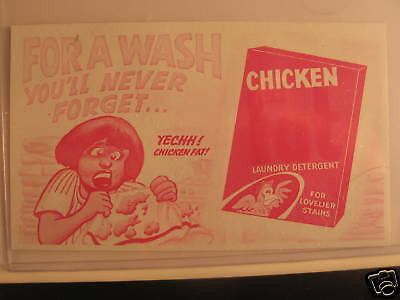 1969 Topps Wacky Packages Ads Proof Cards Chicken Fat