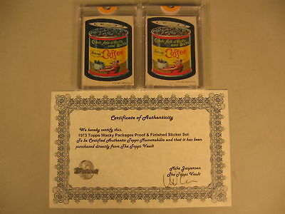 1973 Topps Wacky Packages Proof Chock Full Nuts Bolts