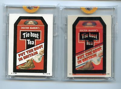 1981 Topps Wacky Packages Irish Proof Set #11 Tie Boot