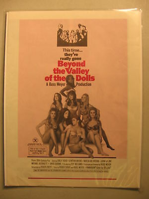 1970 Movie Herald Beyond the Valley of the Dolls