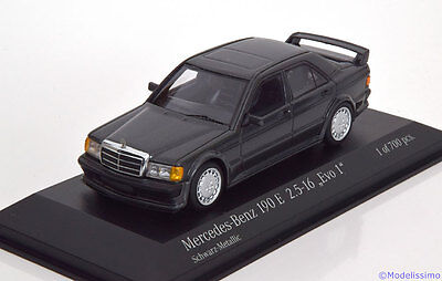 1:43 Minichamps Mercedes 190E 2.5-16 Evo 1 1990 blackmetallic