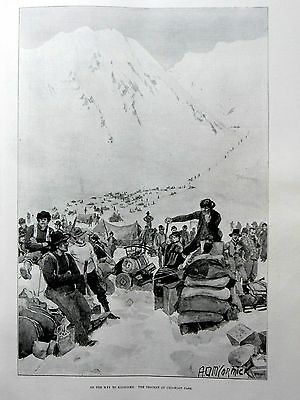 1897-ILLUSTRATED LONDON NEWS-Bengal Lancers,Sitka Alaska,H.G.Wells,Chilkoot Pass