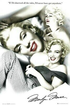 MARILYN MONROE POSTER Red Lips Collage RARE HOT NEW 24x36 -VW0