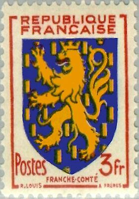 PHOTO MAGNET France Arms of SAINTONGE 1954 issue 5 francs