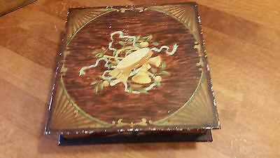 Vintage Huntley & Palmers Biscuits Tin – Inlaid Wood Effect – Great! –