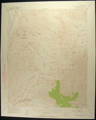 Emigrant Canyon California Inyo County 1957 vintage USGS original Topo chart map