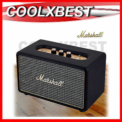 New Marshall Acton Active Stereo Speaker Black Bluetooth Wireless & Aux In