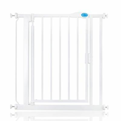 Bettacare Auto Close Standard Baby Gate No Drilling Stair Gate 75-82cm White