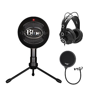 Blue Microphones Snowball iCE Mic with Knox Pop Filter & Headphones