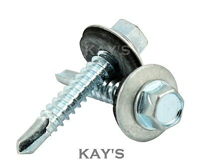 Self Drilling Tek Screws With Sealing Washers Zinc Plated For Metal Roofing