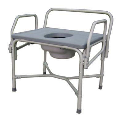 Medline Steel DROP ARM Portable Bedside Commode Toilet Safety Frame Potty