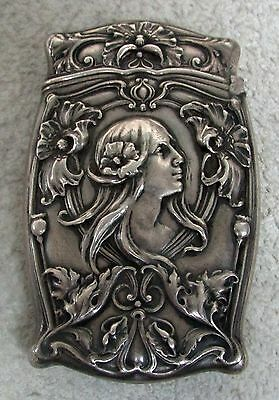 Gorham Sterling Silver Art Nouveau Match Safe
