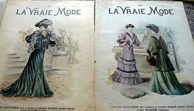 VTG 1910s PARIS FASHION & SEWING PATTERN MAGAZINE COVERS 1904